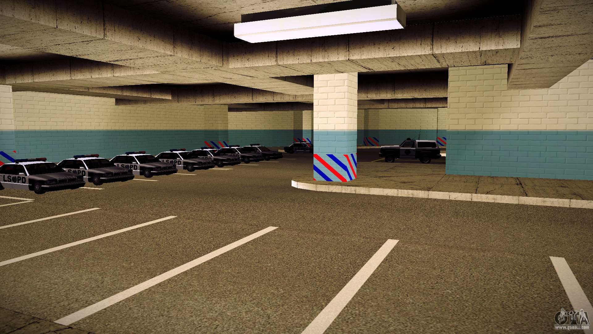 New garage lspd for gta san andreas for Garage interieur