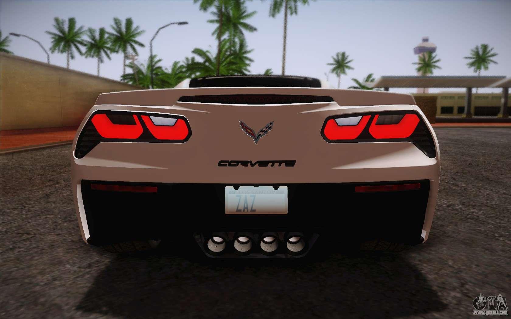 chevrolet corvette stingray c7 2014 for gta san andreas. Black Bedroom Furniture Sets. Home Design Ideas