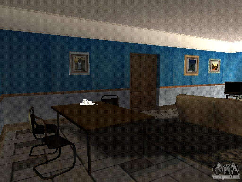 the new interior of the house cj for gta san andreas. Black Bedroom Furniture Sets. Home Design Ideas