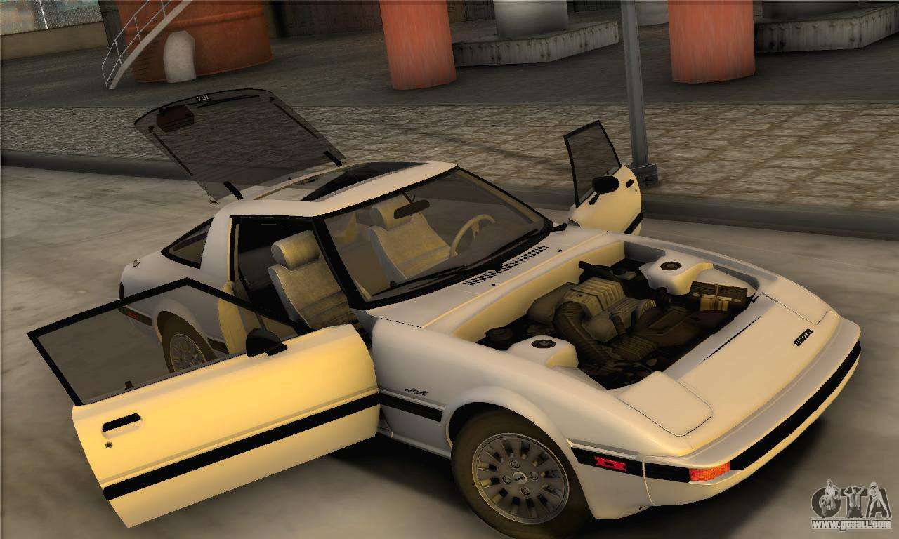 mazda rx7 1985 custom. mazda rx7 gslse 1985 ivf for gta san andreas back view rx7 custom