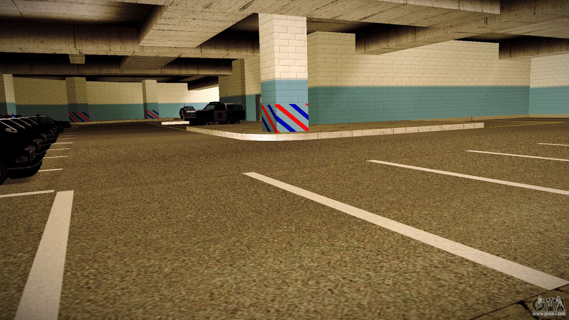 New garage lspd for gta san andreas for New garage