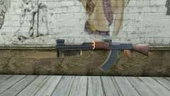 AK47 with a bayonet
