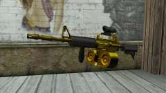 Golden M4 with a shop for GTA San Andreas