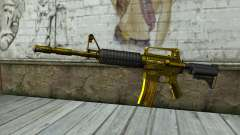 Golden M4 without sight for GTA San Andreas