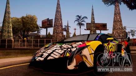 Lamborghini LP750-4 2013 Veneno Stikers Editions for GTA San Andreas