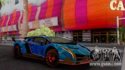 Lamborghini LP750-4 2013 Veneno Blue Star for GTA San Andreas