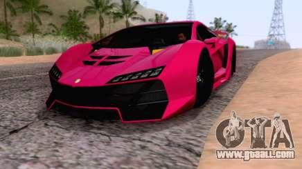 Pegassi Zentorno GTA 5 v2 for GTA San Andreas