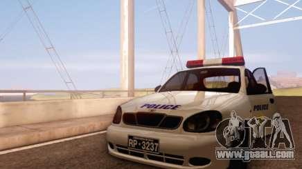 Daewoo Lanos Police for GTA San Andreas