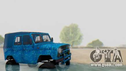 UAZ 469 Blue Star for GTA San Andreas