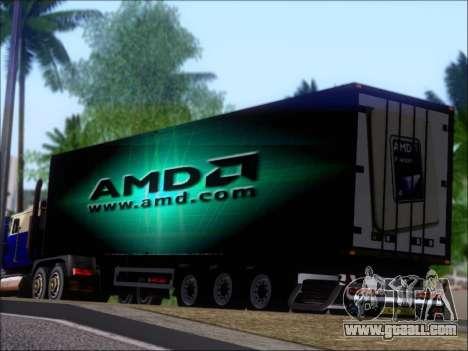 Trailer AMD Phenom X4 for GTA San Andreas wheels
