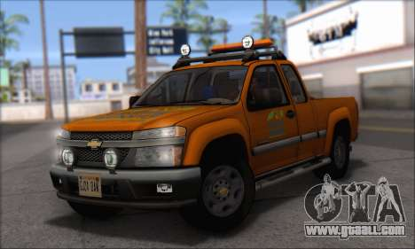 Chevrolet Colorado Cleaning for GTA San Andreas back left view