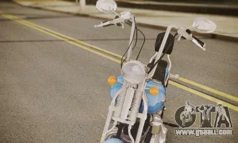 Harley-Davidson FXSTS Springer Softail for GTA San Andreas back left view