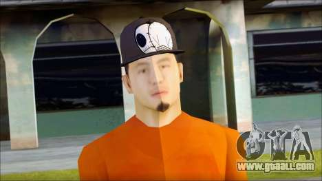 Polera Naranja con Gorro for GTA San Andreas third screenshot