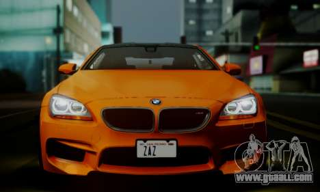 BMW M6 F13 2013 for GTA San Andreas interior