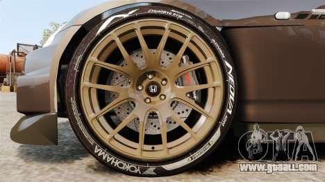 Honda S2000 for GTA 4 back view