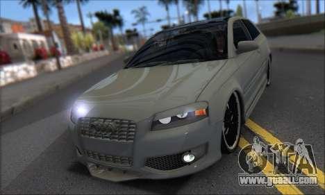 Audi S3 2006 Custom for GTA San Andreas inner view