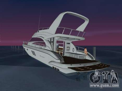 Yacht for GTA Vice City left view