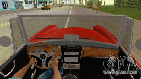Austin-Healey 3000 Mk III for GTA Vice City back left view