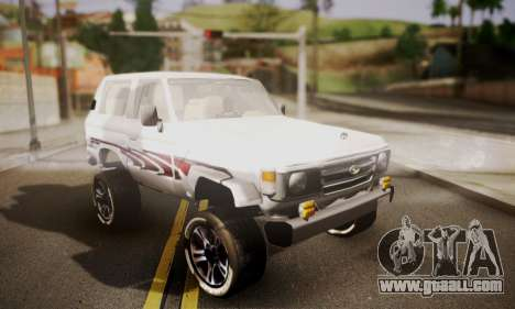 Toyota Land Cruiser LC 70 for GTA San Andreas
