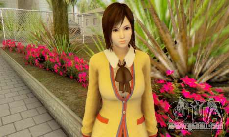 Kokoro wearing a school uniform (DOA5) for GTA San Andreas third screenshot