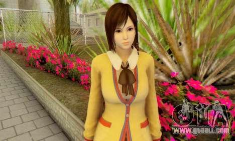 Kokoro wearing a school uniform (DOA5) for GTA San Andreas third screenshot