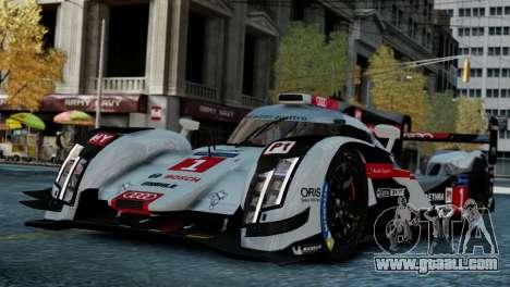 Audi R18 E-tron Quattro for GTA 4 back left view