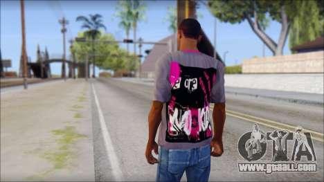 Emo T-Shirt for GTA San Andreas second screenshot
