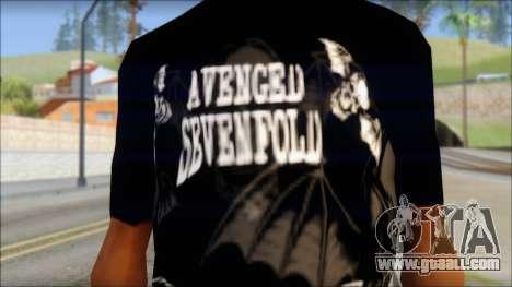 A7X Deathbats Fan T-Shirt Black for GTA San Andreas third screenshot