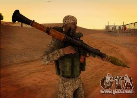 The RAA. Grenadier CRRF for GTA San Andreas second screenshot
