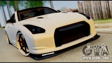 Nissan GT-R V2.0 for GTA San Andreas bottom view