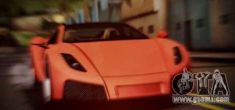 Spano Black for GTA San Andreas