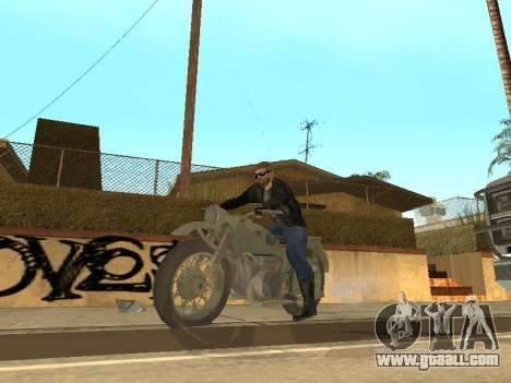 Ural M72 for GTA San Andreas back view