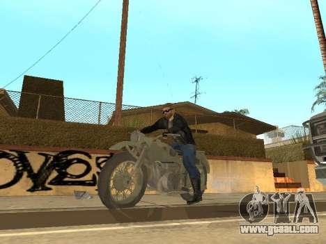 Ural M72 for GTA San Andreas back view
