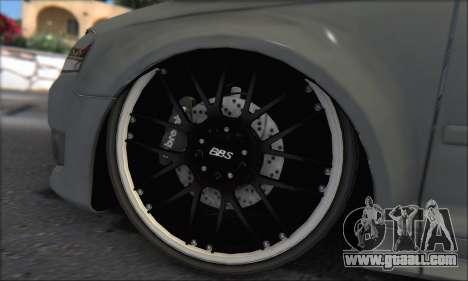 Audi S3 2006 Custom for GTA San Andreas upper view
