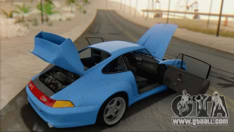 Porsche 911 GT2 (993) 1995 V1.0 SA Plate for GTA San Andreas back view