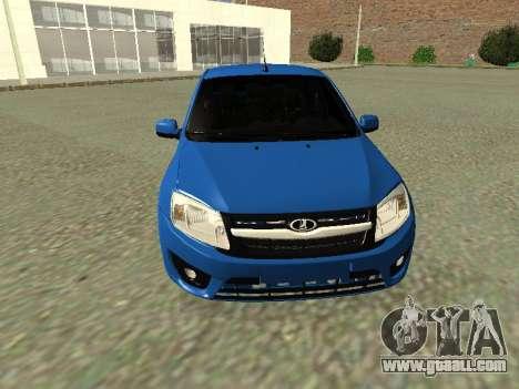 Lada Granta Liftback for GTA San Andreas upper view