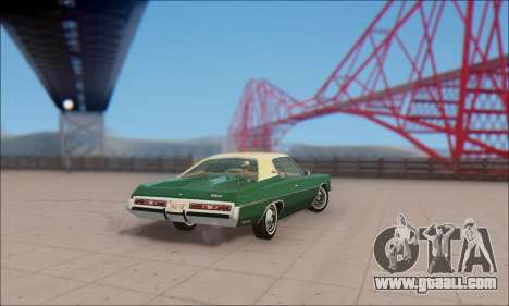 Chevrolet Impala 1972 for GTA San Andreas back left view