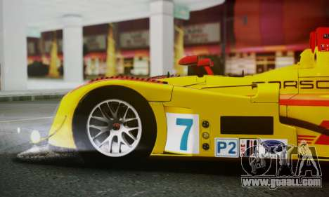 Porsche RS Spyder Evo 2008 for GTA San Andreas upper view