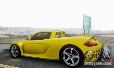 Porsche Carrera GT 2005 for GTA San Andreas upper view