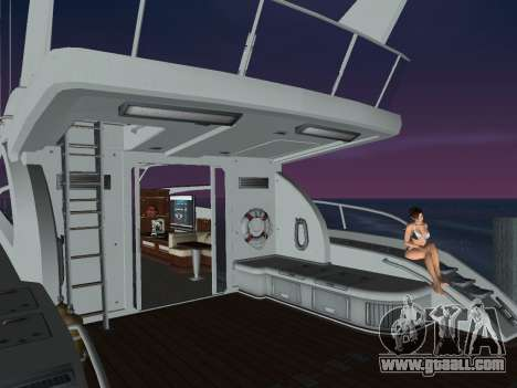 Yacht for GTA Vice City back left view