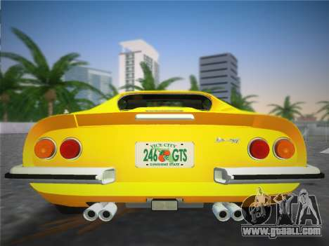 Ferrari 246 Dino GTS 1972 for GTA Vice City inner view