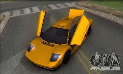 Pegassi Infernus for GTA San Andreas side view