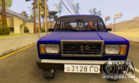 VAZ 2107 Stock for GTA San Andreas bottom view