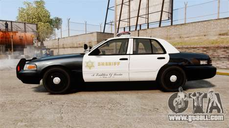 Ford Crown Victoria Sheriff [ELS] Marked for GTA 4 left view