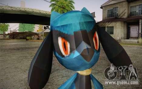 Riolu from Pokemon for GTA San Andreas third screenshot
