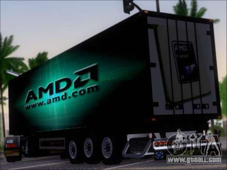 Trailer AMD Phenom X4 for GTA San Andreas back left view