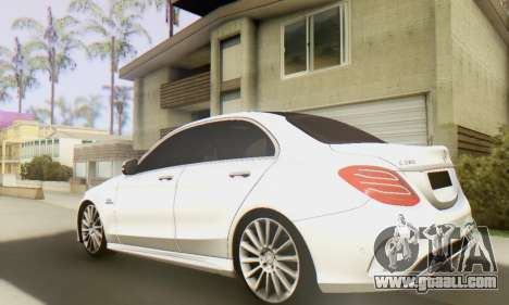 Mercedes-Benz C250 AMG for GTA San Andreas back left view