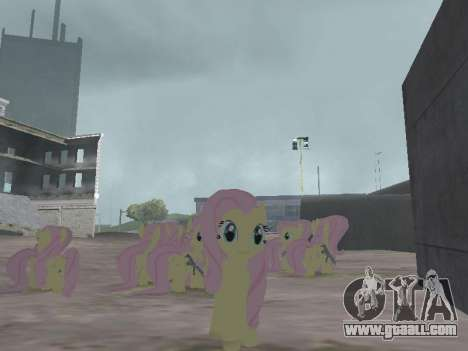 Fluttershy for GTA San Andreas third screenshot