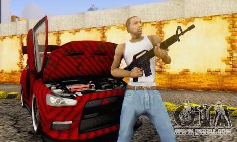 Abstract M16 for GTA San Andreas forth screenshot