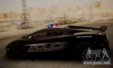 Lamborghini Gallardo LP 570-4 2011 Police v2 for GTA San Andreas left view